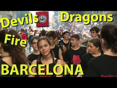 Barcelona Fire Run, Dragons and Devils, Correfoc at the Merce Festival