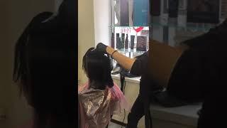 Кератиновое выравнивание волос салон красоты La Familia salon семейная парикмахерская Бровары