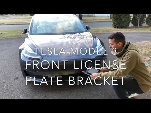 How to Mount Front License Plate to Tesla Model 3 - YouTube