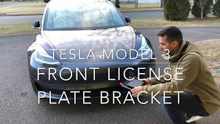 How to Mount Front License Plate to Tesla Model 3