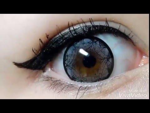 Цветные линзы «Кружево», видео покупателя