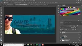 Criar capa para pagina do Facebook com texto transparente - Photoshop