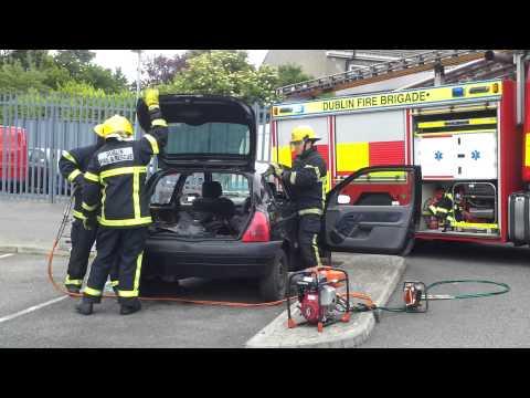 Dublin Fire Brigade RTA Demonstration