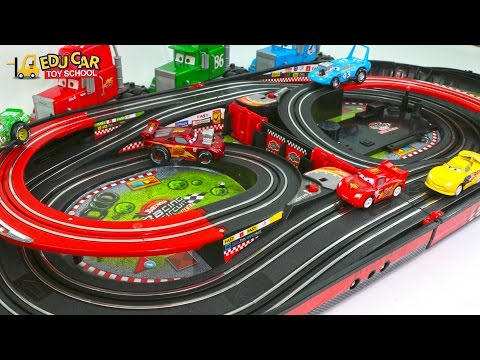 Thumbnail: Learning Color Special Disney Pixar Cars Lightning McQueen Mack Truck Race Track for kids car toys