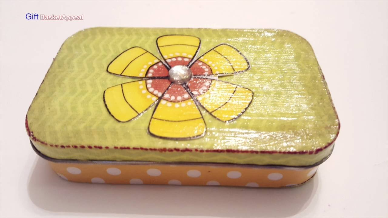 Upcycled Altoid Tin Mod Podge Crafts Youtube