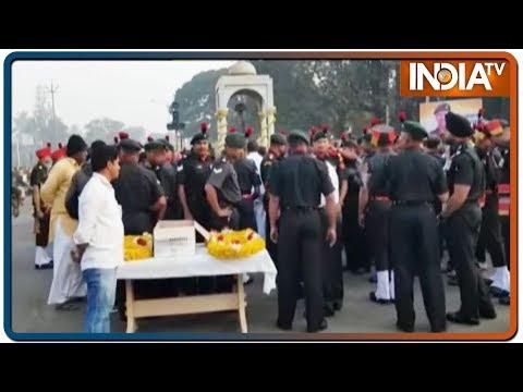 Nowshera Encounter: Mortal Remains Of Lance Naik Sandip Sawant Brought To His Hometown