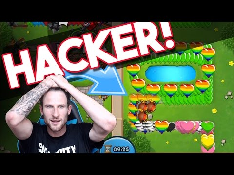 Bloons TD Battles  | FACING A HACKER!  |  IS THIS GUY HACKING