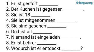 A1, A2, B1, B2, C1, Übungen, werden, worden, geworden, Partizip II, Passiv, have been, have become