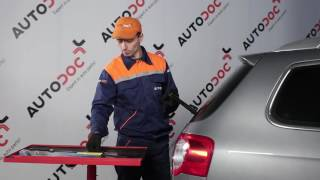 Hoe een ruitenwisserbladen achteraan vervangen op een VW PASSAT B6 HANDLEIDING | AUTODOC