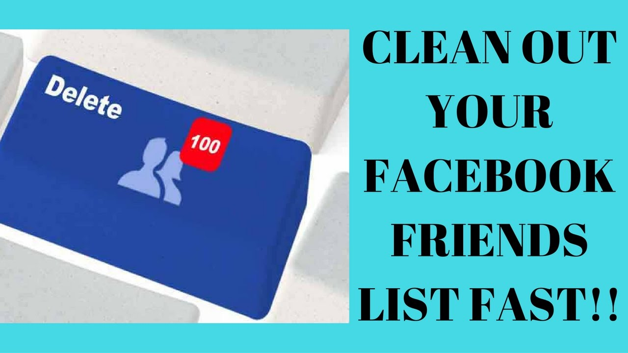 how to delete facebook friends fast