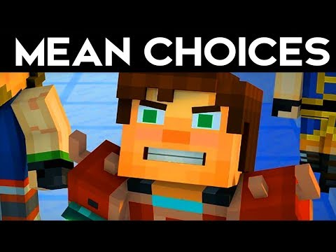 MEAN/WORST CHOICES! - Minecraft Story Mode Season 2 Episode 2 Funny Moments Alternative Choices