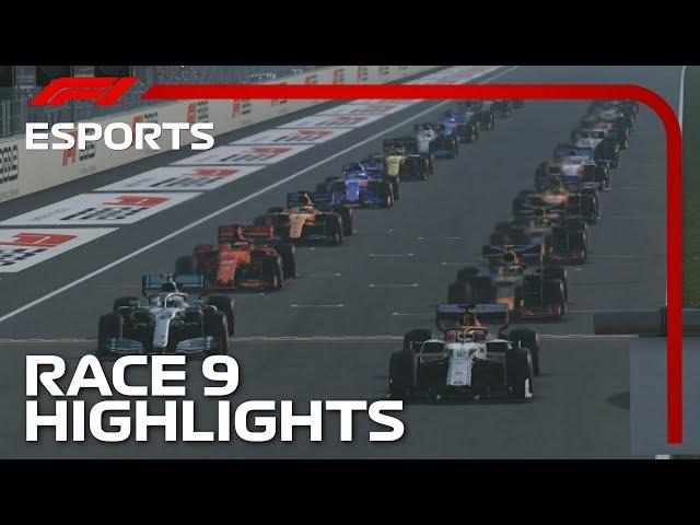 F1 Esports Pro Series 2019: Race Nine Highlights