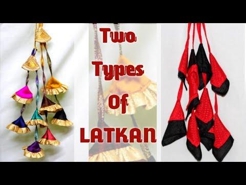 New Fabric Tussels design making | Latkan DIY | Krishna Creation