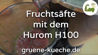 Teil 4 - Beeren-Früchte und weiches Obst mit dem Hurom H100 entsaften