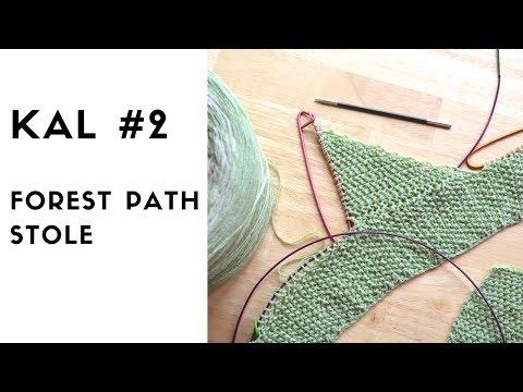 Forest Path Stole KAL #2 knitting pattern