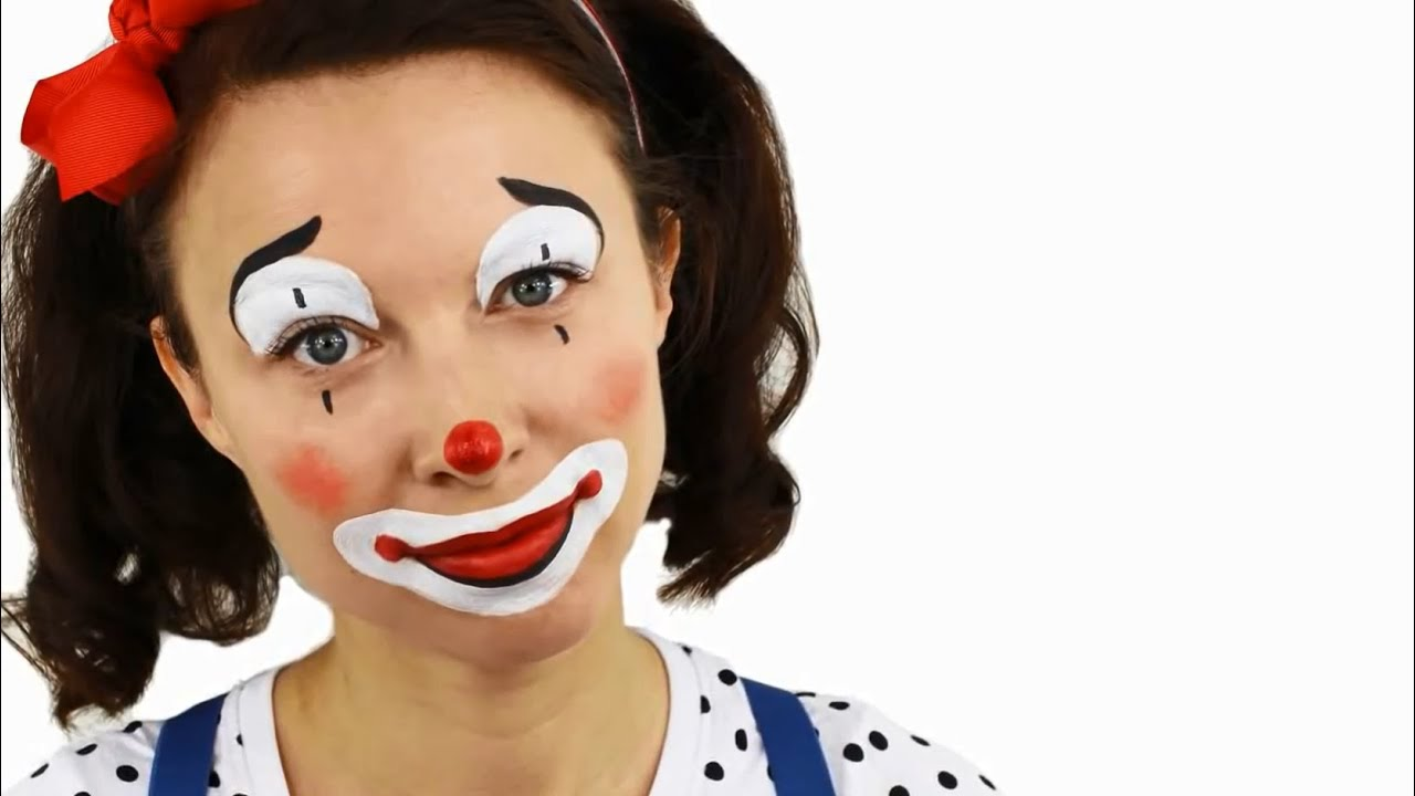 Comment maquiller une femme en clown niveau d butant youtube - Maquillage de clown facile ...