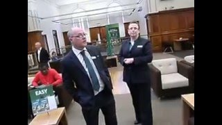 Lloyds Bank P.P.I. PROTEST & ARREST - Northampton