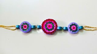 How to make Raksha Bandhan - paper quilling Special 'Rakhi' 2015