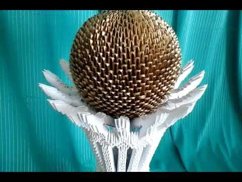 """Модульное оригами,ваза """"Байтерек""""(описание)/Modular Origami, Baiterek Vase (description)       V38"""