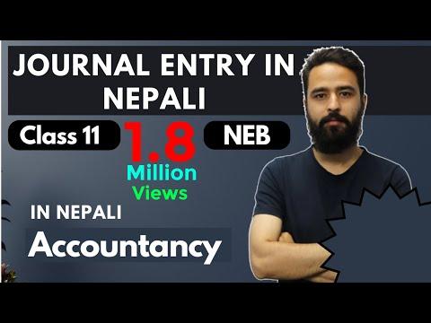 Journal Entries in Nepali || Grade 11 || Accountancy(HSEB/NEB)