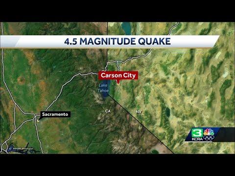 4.5-magnitude earthquake hits Carson City area