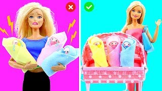DIY BARBIE HACKS AND CRAFTS: Making Miniature Baby Set for Barbie Doll #2
