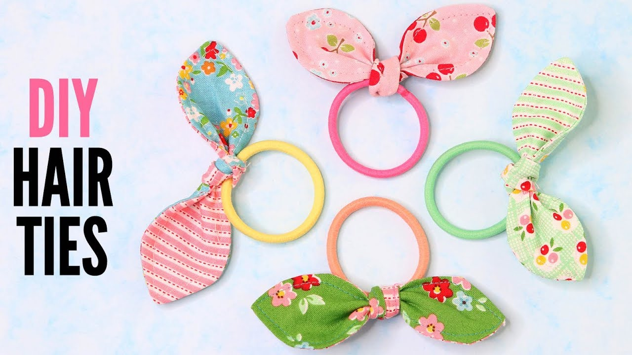 Diy Hair Tie Quick And Easy With Free Pattern