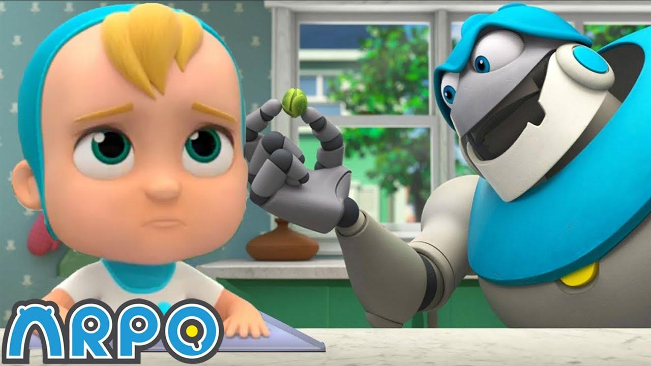 Eat Your Vegetables Daniel | Robot Cartoons For Kids | ARPO | Sandaroo Kids Channel