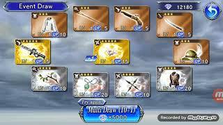 Dissidia Final Fantasy Opera Omnia DFFOO - Setzer's Death Tarot Pulls