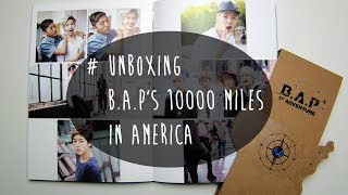 unboxing b a p 10000 miles in america photobook review