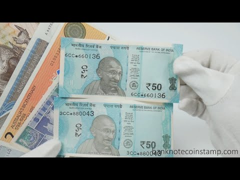 Indian 50 Rupees Star Notes, Coin Holders - Packing Banknotes On Cash On Delivery