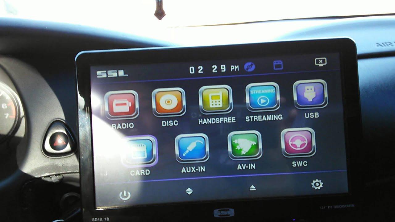 Sound Storm Ssl 10 1 Inch Indash Radio
