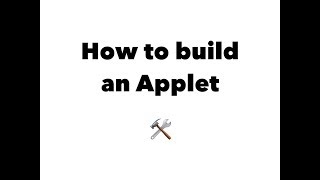 How to build an Applet