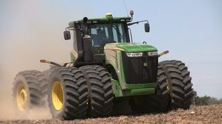 Pitstick Farms - John Deere 9560R and 9530 Tractors on 5-7-2013