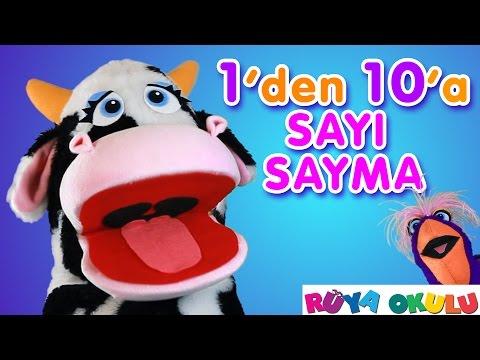 1'den 10'a Kadar Sayı Sayma - Türkçe Sayılar -  RÜYA OKULU
