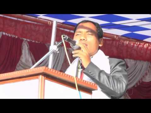 Acting President Buddha Lal Meche Address Mno District Convention ...