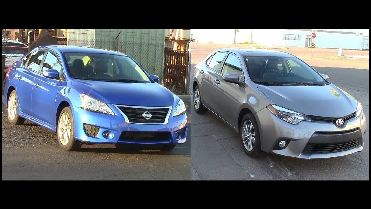 2015 Nissan Sentra And 2015 Toyota Corolla Review   YouTube