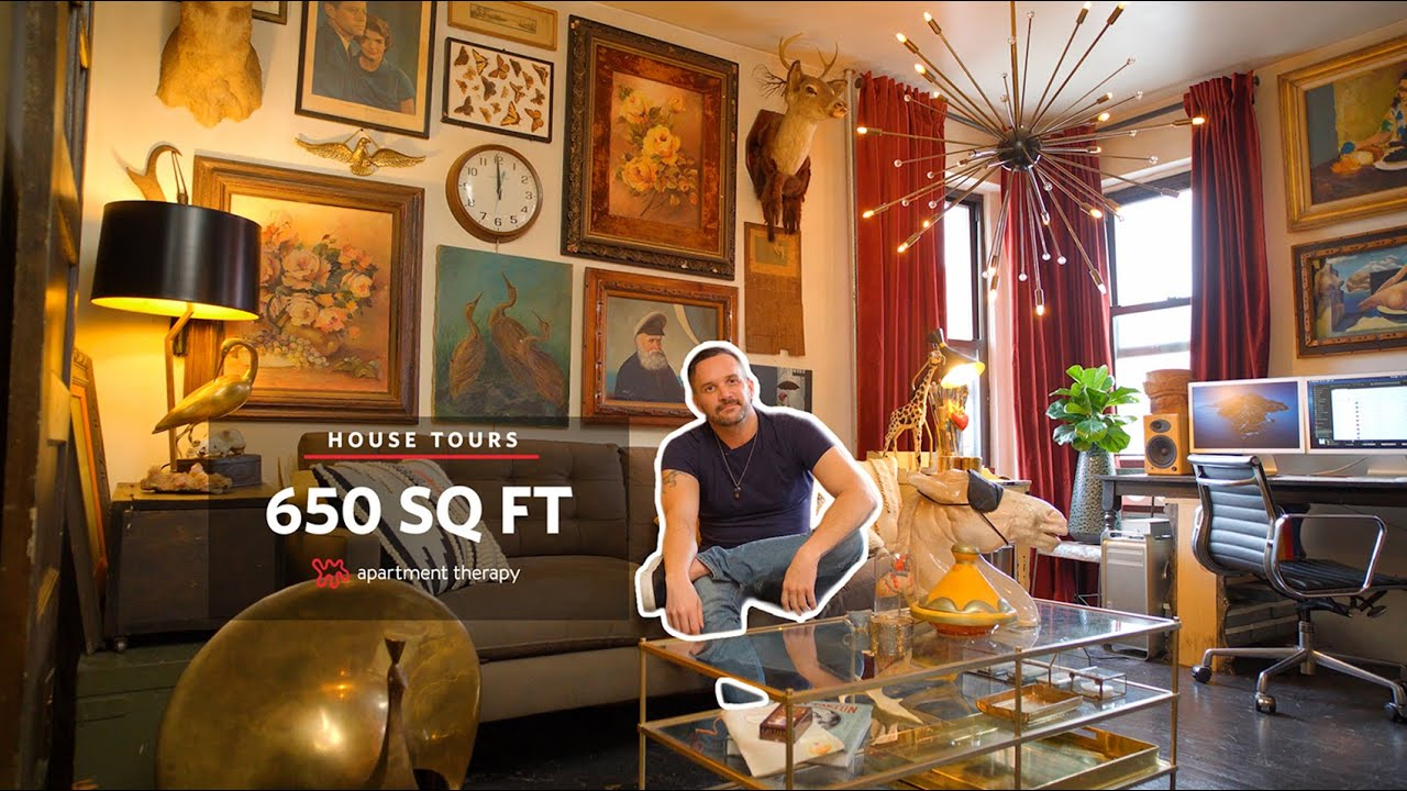 Ryan's 650 Sq Ft Maximalist Brooklyn Apartment | House Tours
