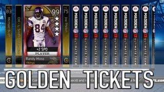mut 13 golden ticket pack opening 4 star randy moss? madden ultimate team 13