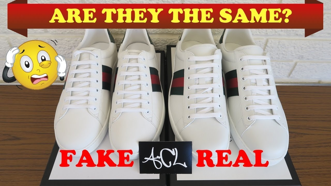How To Spot Fake Gucci Ace Sneakers   Authentic vs Replica Gucci Ace Legit  Check Review e480f7b93eea