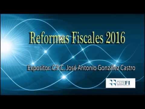 20151216 Reformas Fiscales 2016