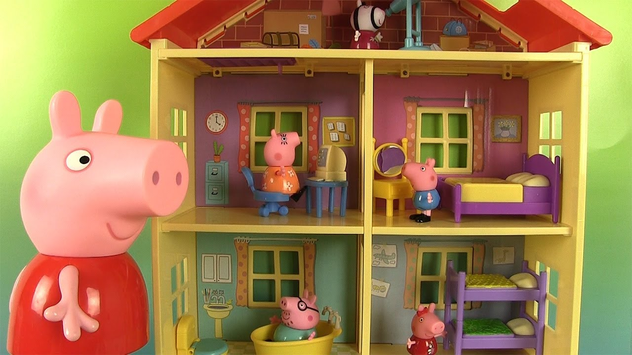 peppa pig la nouvelle maison familiale sons et lumi res. Black Bedroom Furniture Sets. Home Design Ideas