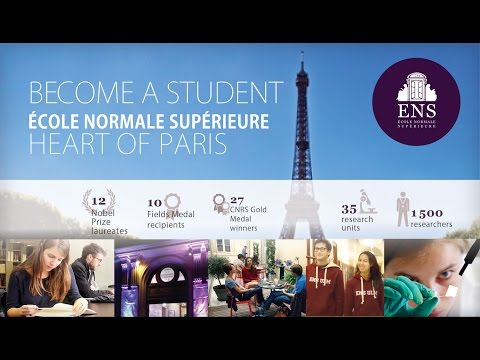 Become a student at École normale supérieure, at the heart of Paris - International selection