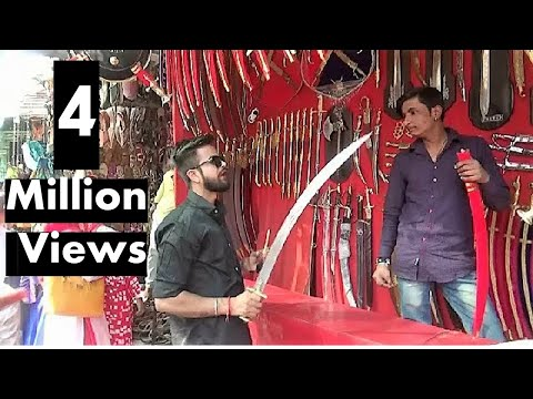 Indian Sword Market In Pushkar, India ( तलवार बाज़ार पुष्कर ) - Traditional  Weapons Of India