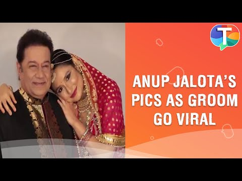 Anup Jalota's pictures as a groom with two girls go VIRAL