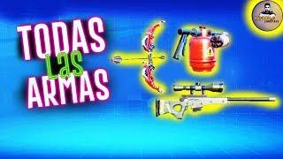 TODAS LAS ARMAS DE FORTCRAFT LA COPIA DE FORTNITE | CREATIVE DESTRUCTION