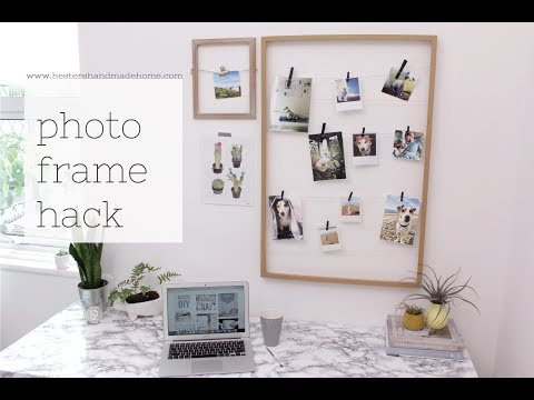 Picture frame hack and the Scandinavian home book review