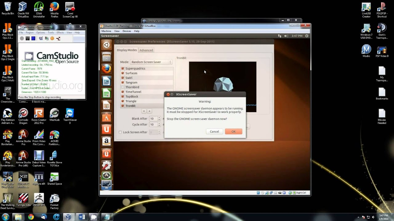 how to change your ubuntu desktop background and screen saver youtube
