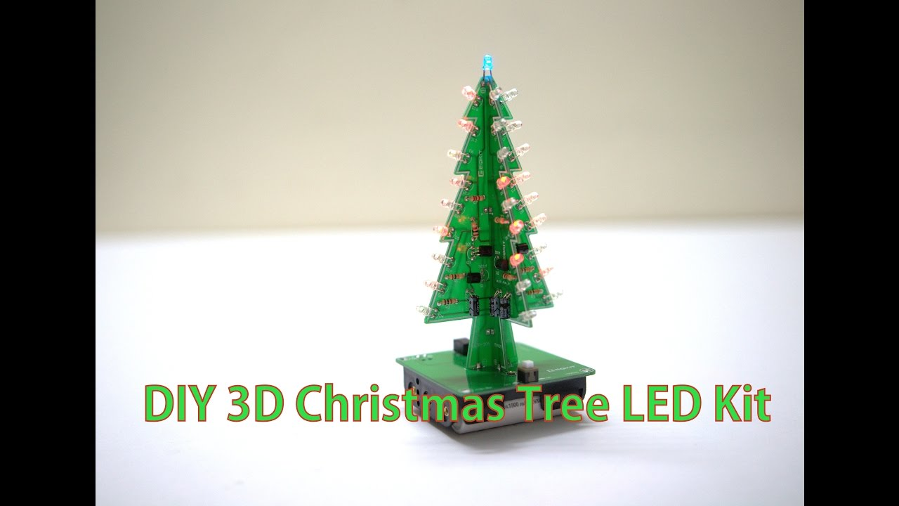 DIY 3D Christmas Tree LED Kit ( Electronic Learning Kit ) - YouTube