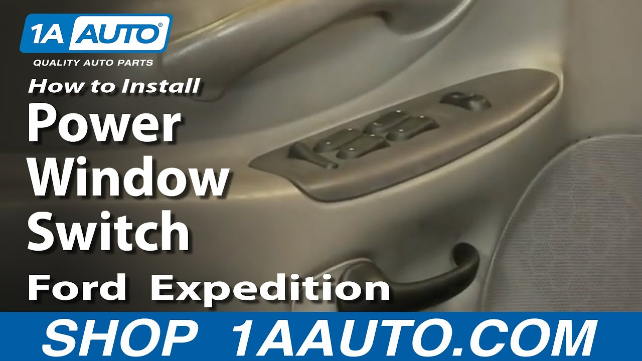 How To Install Replace Power Window Switch Ford F150 Expedition 9703 1AAuto  YouTube